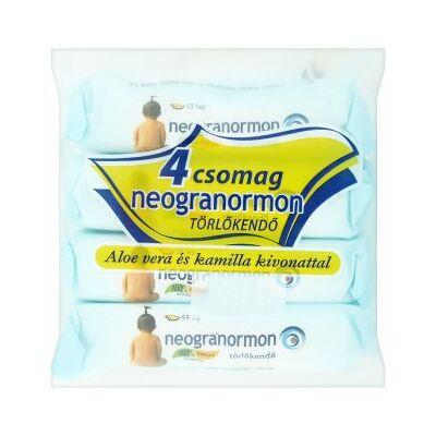 Neogranormon törlőkendő aloe vera és kamilla kivonattal 4x55 db - Mega pack
