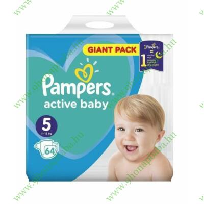 Pampers Active Baby Pelenka Giant Pack 5 Junior - 64 db