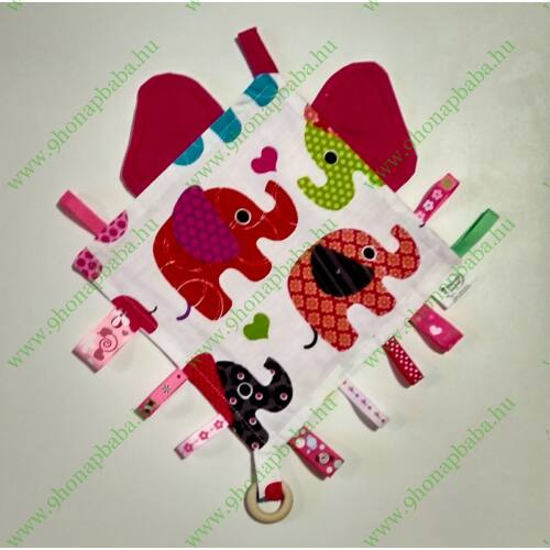 Címke rongyi - Pink elefánt