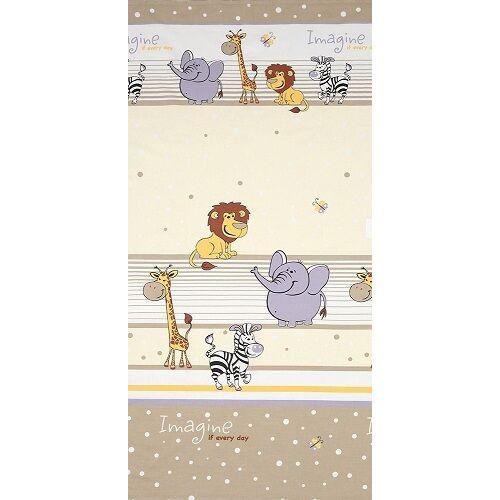Ovis-gyermek ágynemű huzat - krém szafari