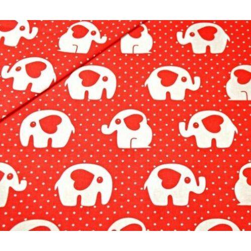 Ovis ágynemű szett - Piros elefánt