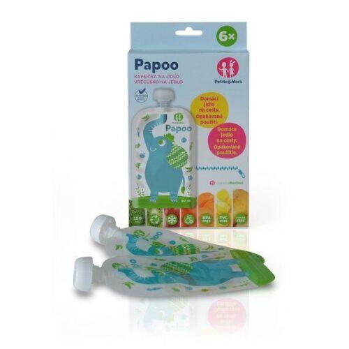 P&M Papoo tasak bébiételekhez elefánt 6 db - 901807