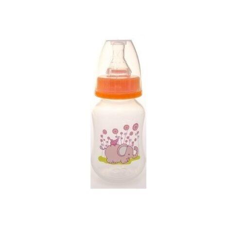 Baby Bruin polipropilén cumisüveg, 125ml narancs - pink elefánt