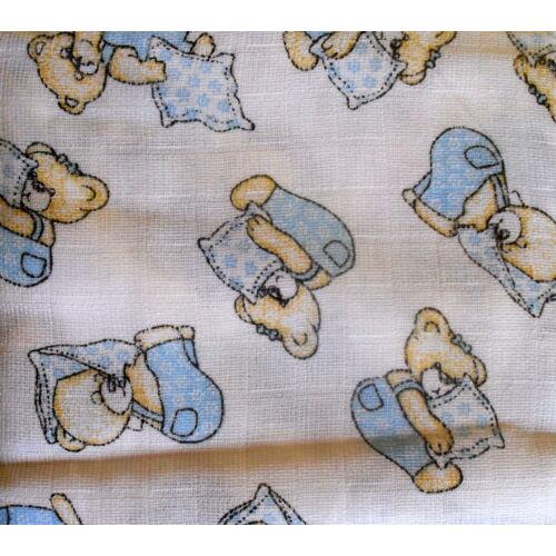 Baby Bruin mintás tetra pelenka 2 db - kék maci