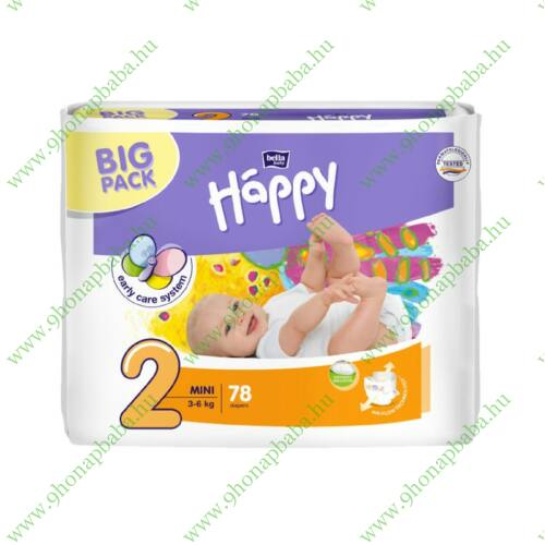Bella Baby Happy nadrágpelenka 2 Mini (3-6 kg) pelenka - 78 db
