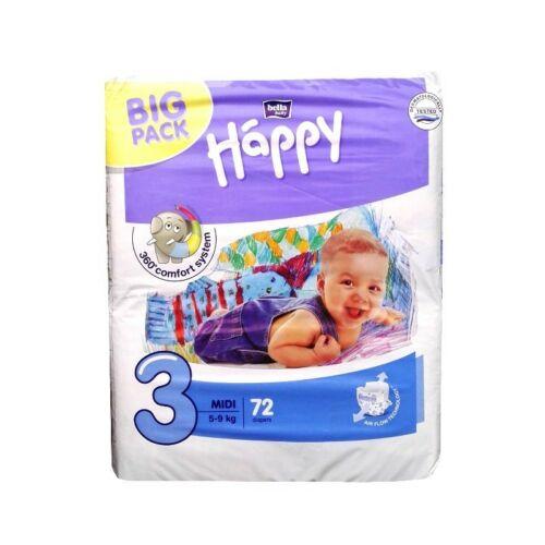 Bella Baby Happy nadrágpelenka 3 Midi (5-9 kg) pelenka - 72 db