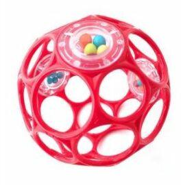 OBALL RATTLE játék 10 cm, 0 hó+ Piros