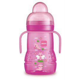 Mam Trainer tanulópuhár -extra puha ivócsőrrel és plusz egy csepegés mentes etetőfejjel- Pink