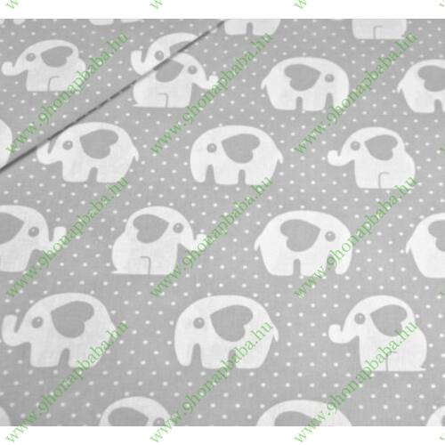 2 részes baba ágynemű - Szürke elefánt